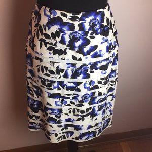 White House Black Market Layer Skirt Blue